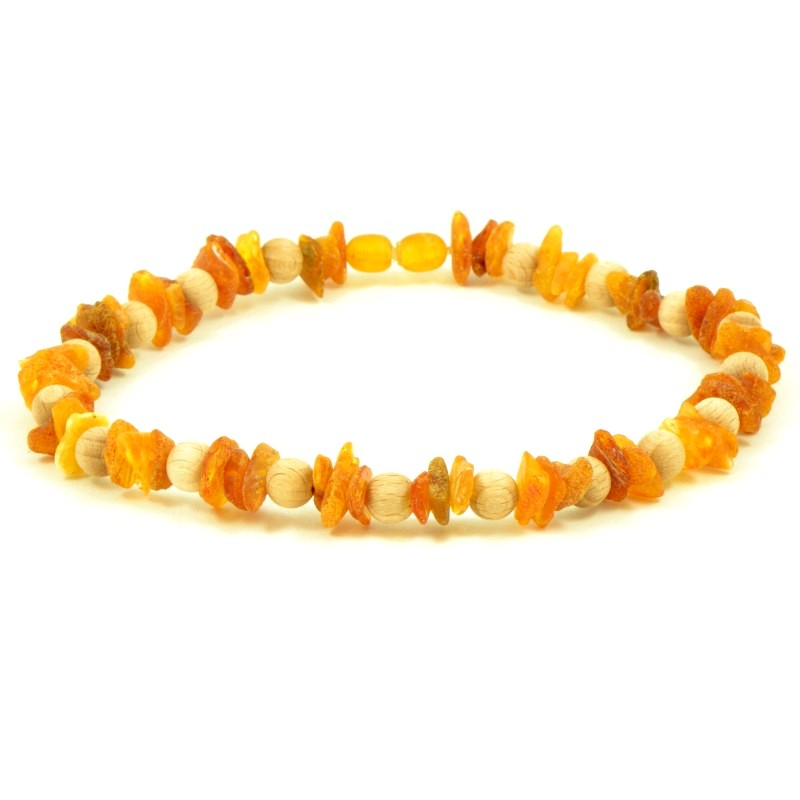 "Anti-tick Amber necklace ""Rukai"" 40cm"