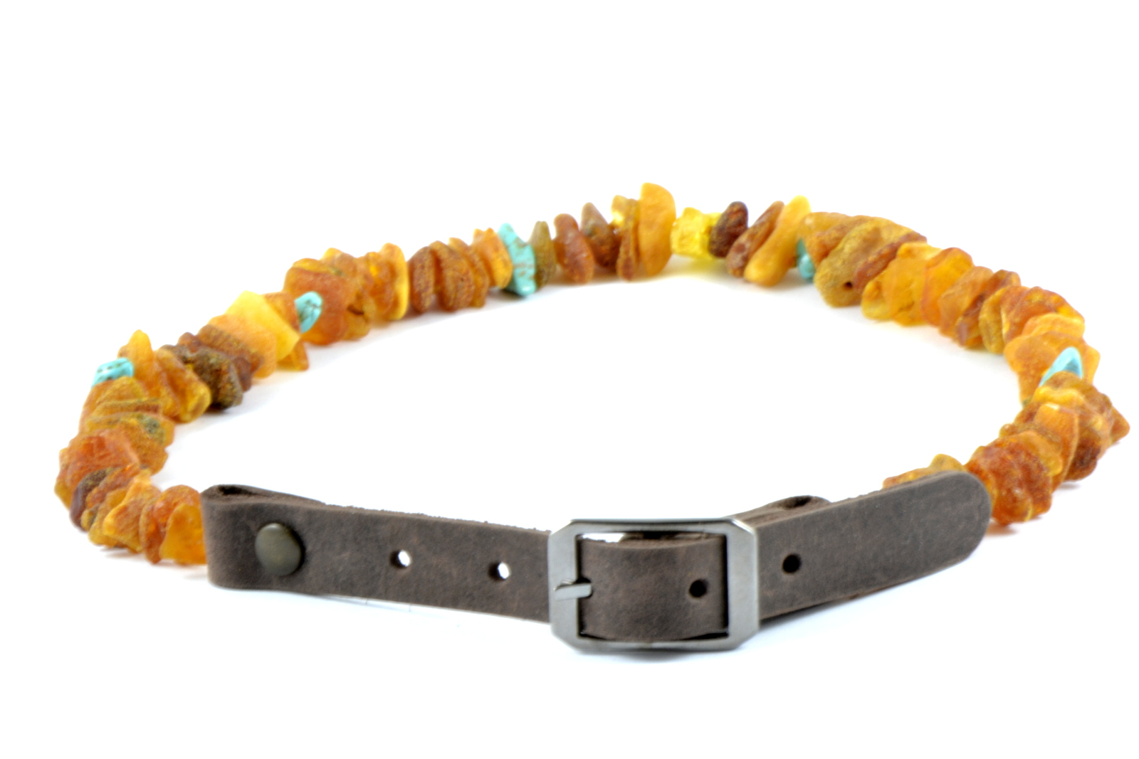 "Anti-tick Amber necklace ""Jakai"" 20/25cm"