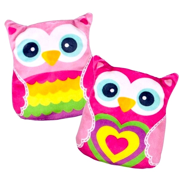 Cushion water bottle cherry pits owl 15cm assorted models