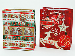 "Gift bag ""Xmas"" 34 x 26cm assorted models"