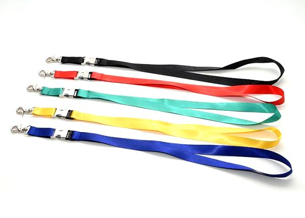 Choker cord polyester with carabiner 50cm assorted colors