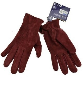 woman burgundy leather gloves assorted sizes
