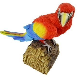 Movement detector parrot 16cm assorted colors