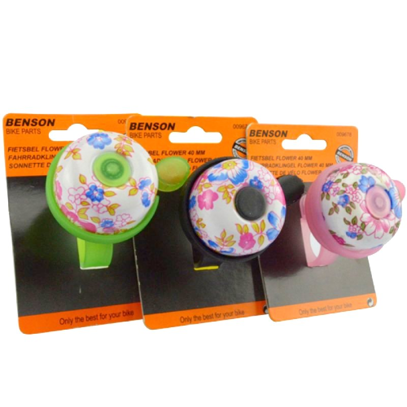 "Bicycle bell ""Flower"" Ø 4cm assorted colors"