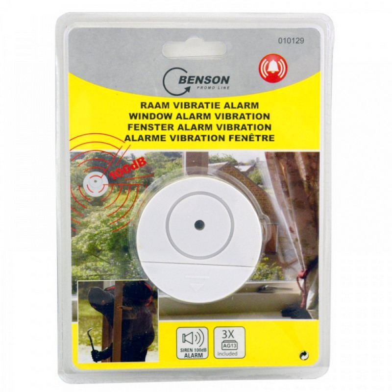Window vibration alarm Ø 6cm white