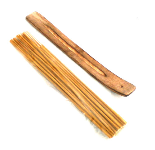Set incense holder and 30 sticks lemongrass 25cm