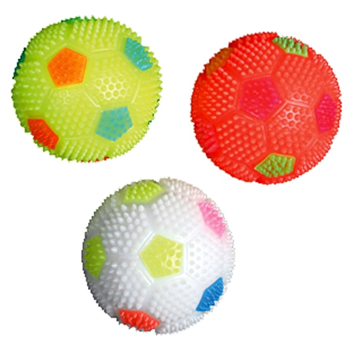 LED Puffer soccer ball Ø 8cm assorted colors
