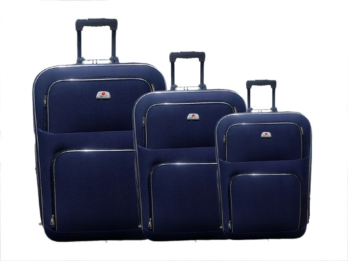 "Set aus 3 Trolleys reisen ""blau"""
