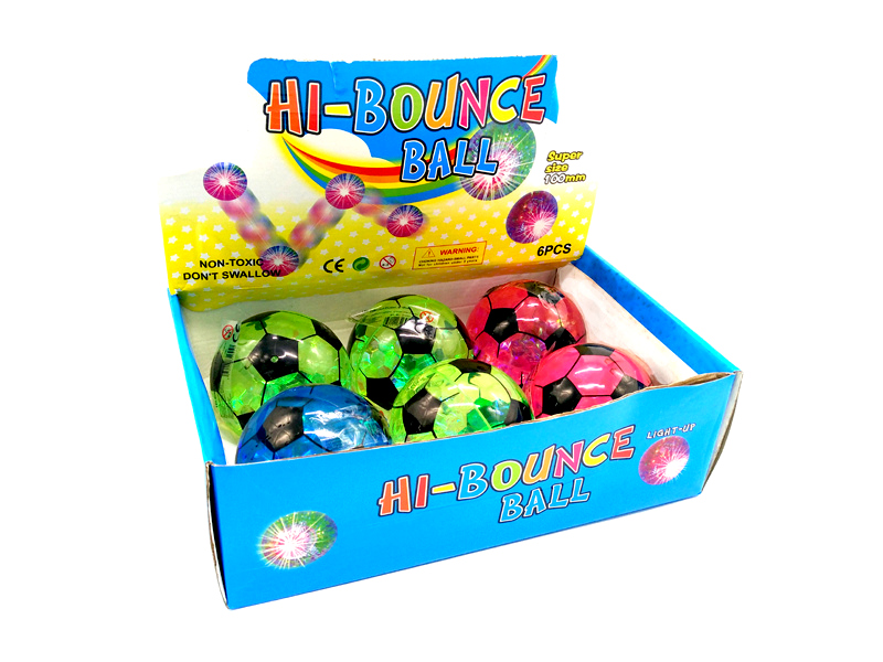 Bouncing ball light Football Ø 10cm assorted colors