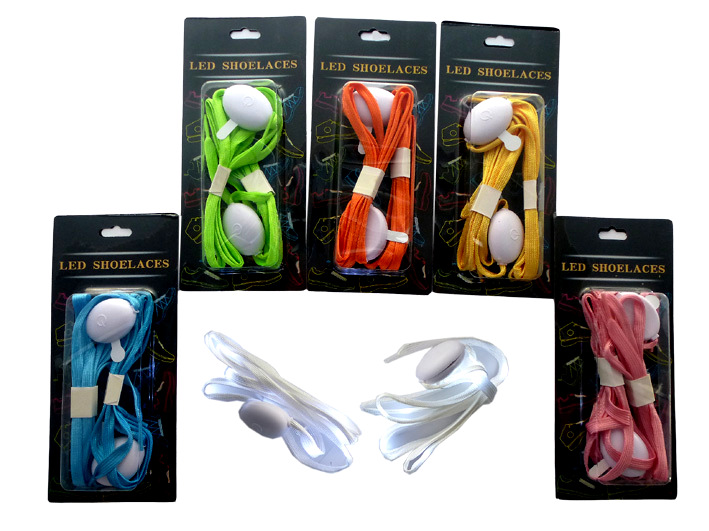 Pair of luminous nylon laces Led assorted colors