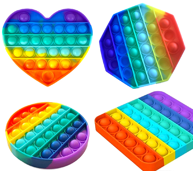 Jeu Magic Pop It antistress Rainbow 13cm modèles assortis