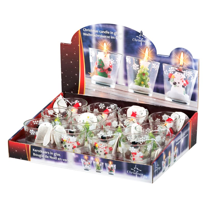 Christmas candle 6.5 cm assorted models