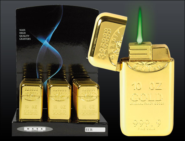 gold metal lighter<br>gas &quot;