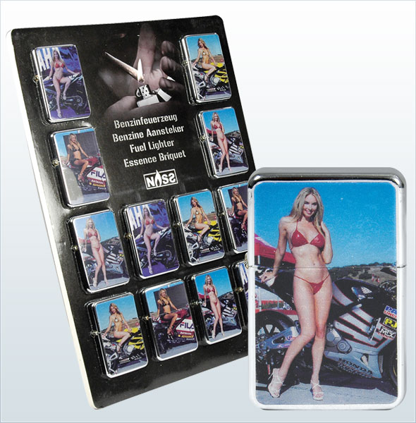 "gasoline lighter bikinis & bikes ""assorte"