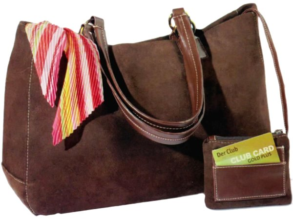 "2 handles handbag marina ""imitation leather b"