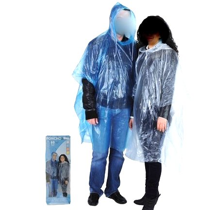 Hooded Poncho adult assorted colors