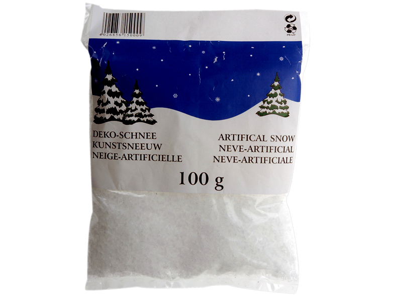 Bag artificial snow 100g