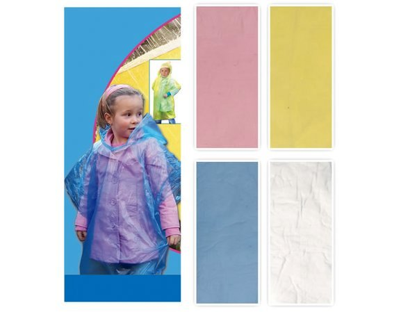 Child Poncho with hood assorted colors