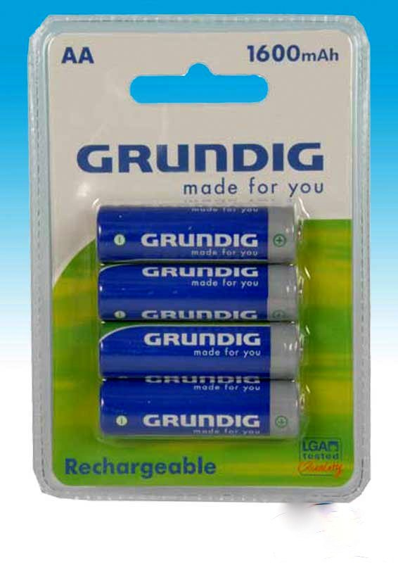 Set of 4 NiMh AA LR06 batteries Grundig 1.2V