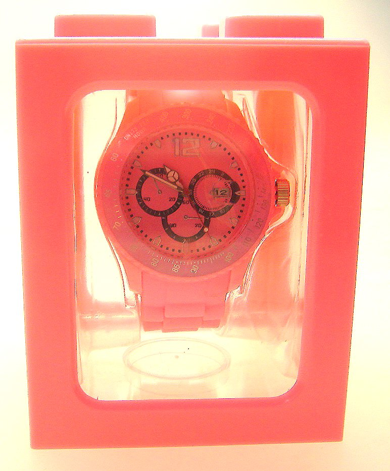 "sport watch silicone bracelet cléo ""rose&quot"