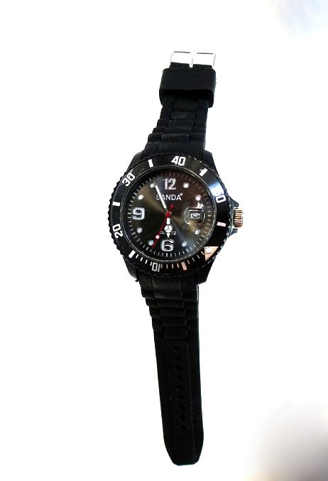 "sanda watch with date ""unisex black"""