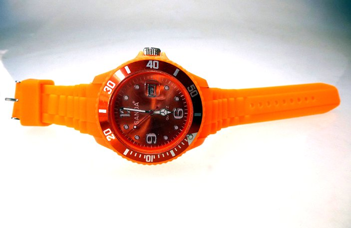 "sanda watch with date ""unisex orange"""