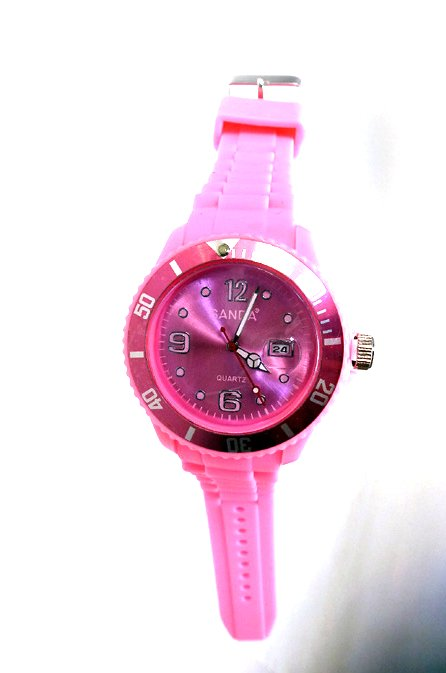 "sanda watch with date ""Pink Unisex"""