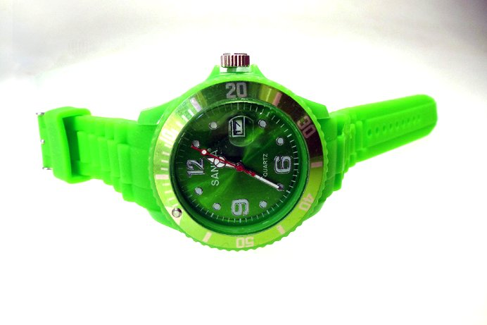 "sanda watch with date ""unisex green"""