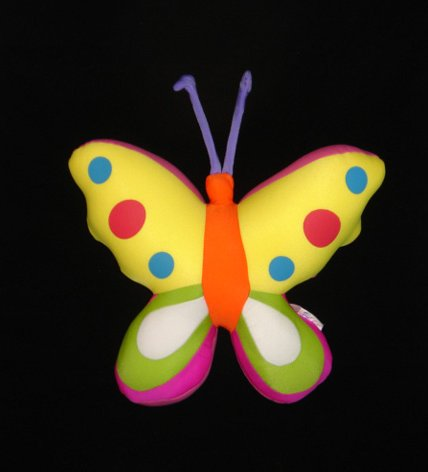 Butterfly relaxing cushion assorted colors 35cm
