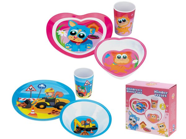 box 3 pieces kids meal melamine models