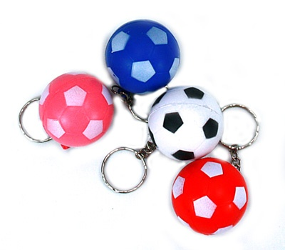 keychains football assorted colors