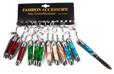 keychain knife 8cm assorted colors