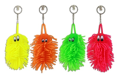 "keychains worm fluffy ""12cm assorted colors&q"