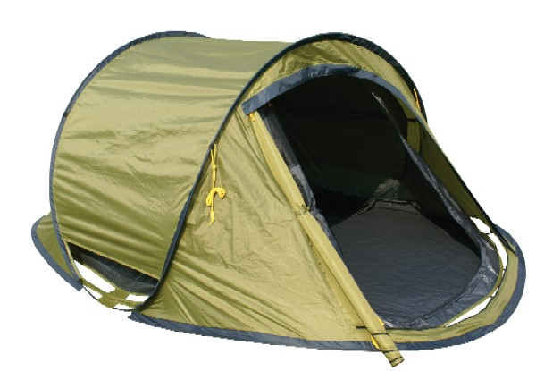 "3 people igloo tent ""Automatic olive green&qu"