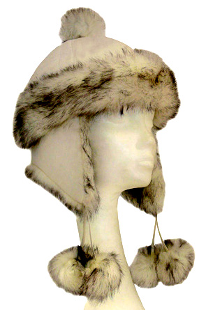 aviator fur hat with tassels