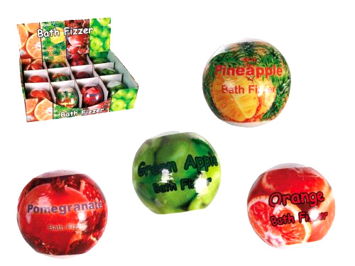 Bath bomb assorted fruit flavors
