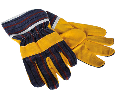pair of work gloves and protection for kids