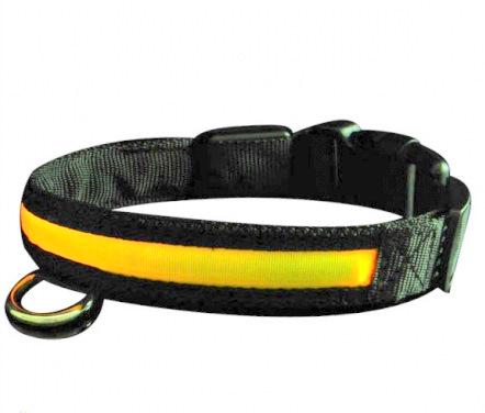 LED dog collar<br>turbo  green size l